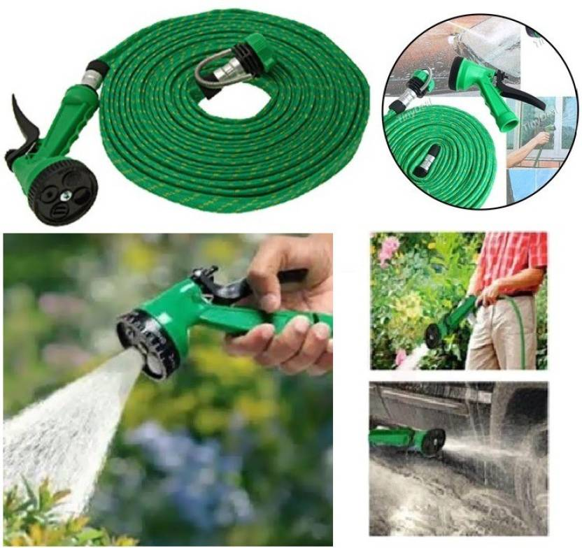 Unica Multifunctional Water Spray Gun 10 Mtr Hose For Car Wash/Vehicle Cleaning Ultra High Pressure Washer available at Flipkart for Rs.299