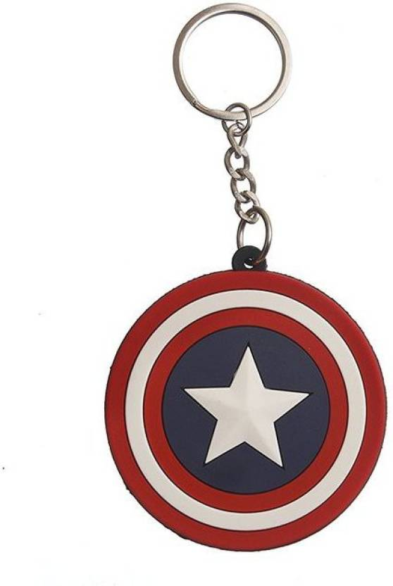 GCT Superhero Avengers Captain America Shield Synthetic Rubber Design-3 Key  Chain (Multicolor) 93084dc4d2