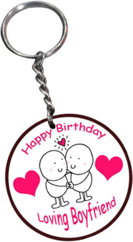Tied Ribbons Happy Birthday Gifts For My Loving Boyfriend Key Chain