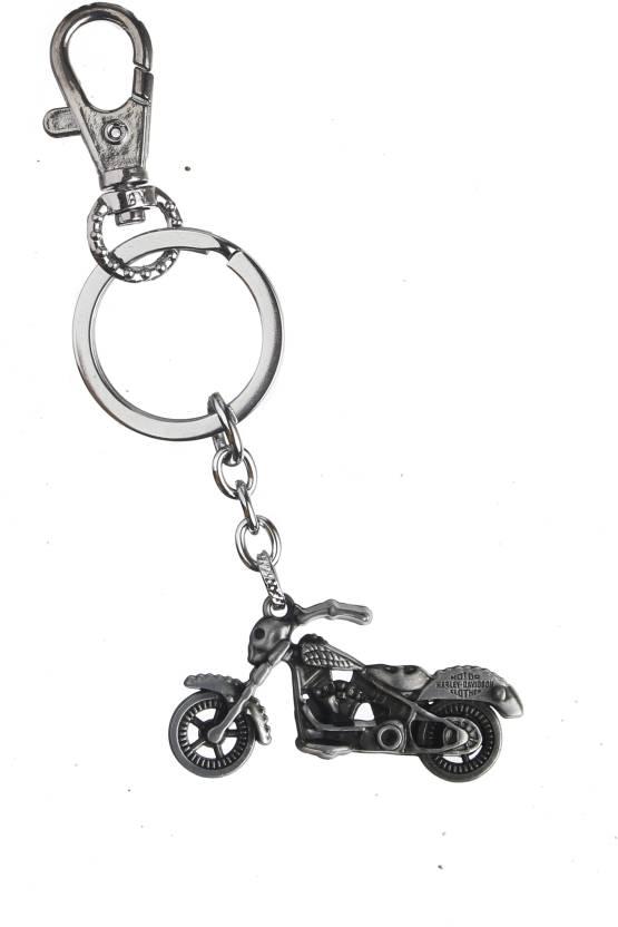 Techpro Metal Silver Colour Harley Davidson Bike Key Chain (Multicolor) f6c4d39485cd