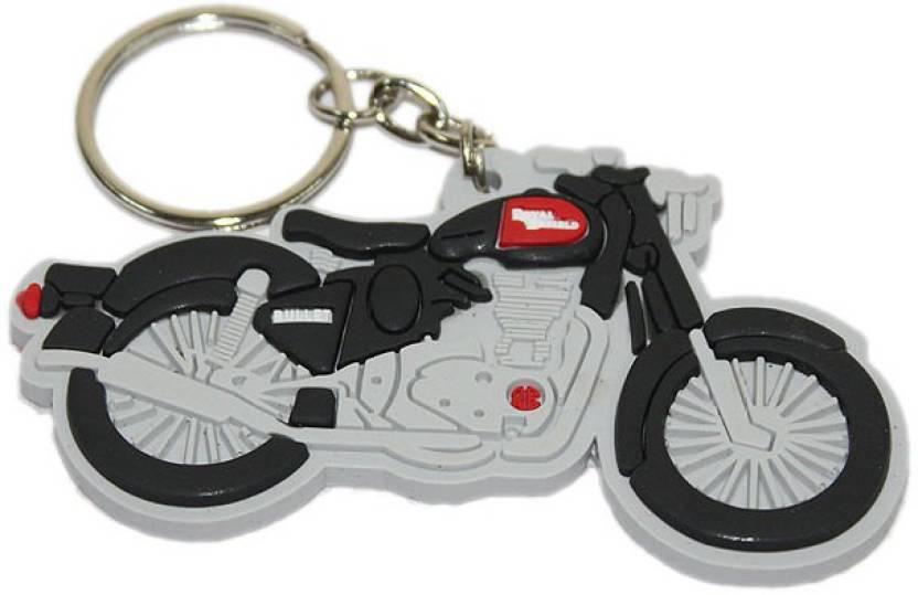 Aura Royal Enfield Bullet Bike Shape Rubber Locking Key Chain (Multicolor) d398d034e2