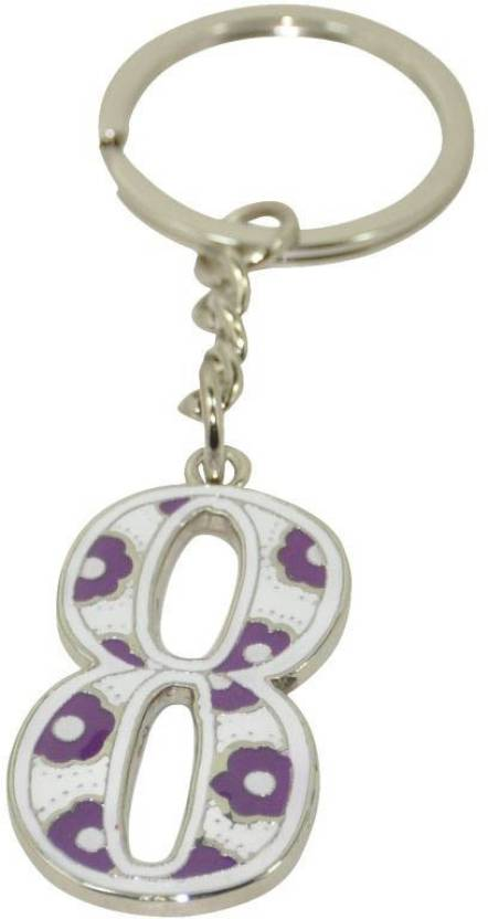 Thinksters LUCKY NUMBER 8 KEYCHAIN Key Chain Price in India - Buy