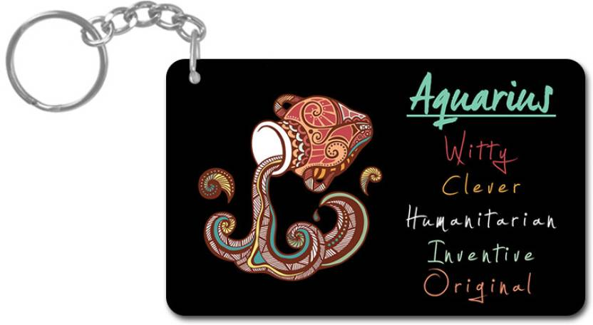 Lovely Collection Zodiac Sign Aquarius Key Chain - Buy Lovely