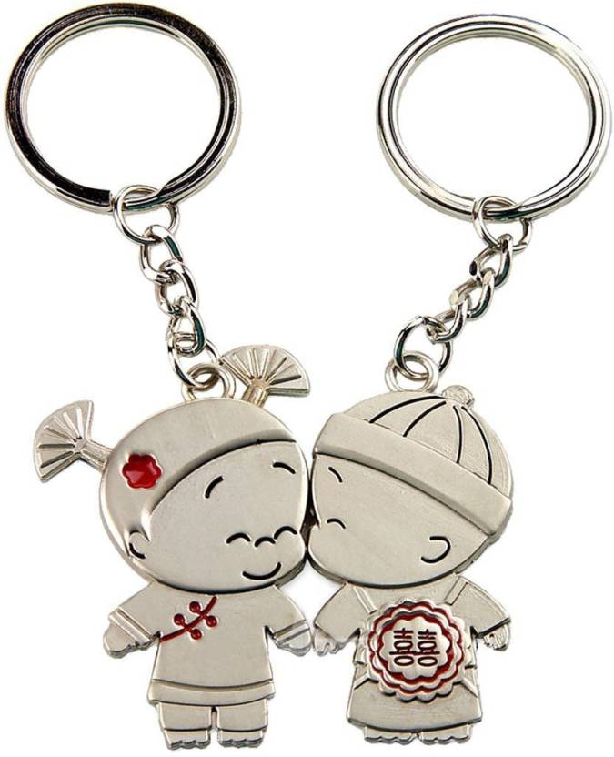 934052b847 CTW Kissing Valentine Couple Metal Pack of 2 Key Chain - Buy CTW ...