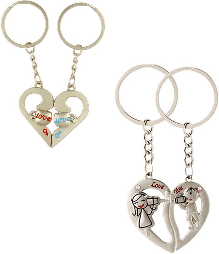Ctw Love You Heart Couple Valentine Gift Metal Combo Key Chain Buy