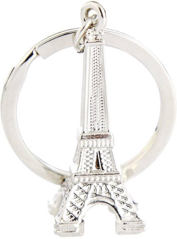 True Traders true traders silver metal Eiffel tower keychain Key Chain  (Silver) fd1a9100e630