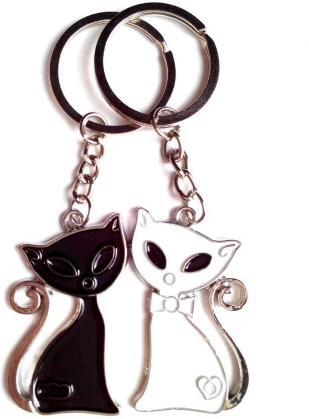 Keepsake Cute Cat Pair Key Chain - Buy Keepsake Cute Cat Pair Key ... 2b4d22911900
