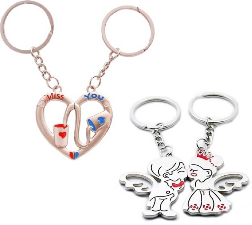 Ctw True Love You Heart Metal Combo Valentine Gift Pack Key Chain