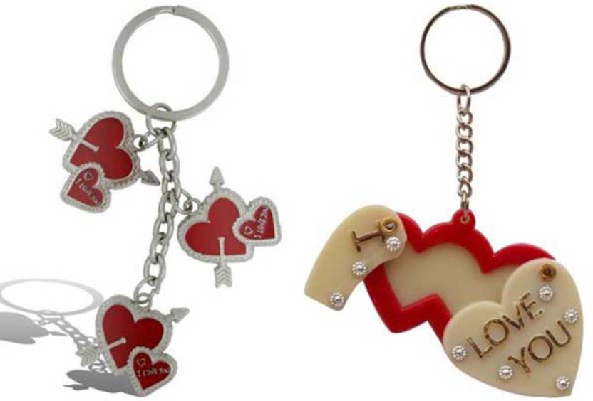 Rashi Traders Arrow 3 Heart + Heart Frame Key Chain - Buy Rashi ...