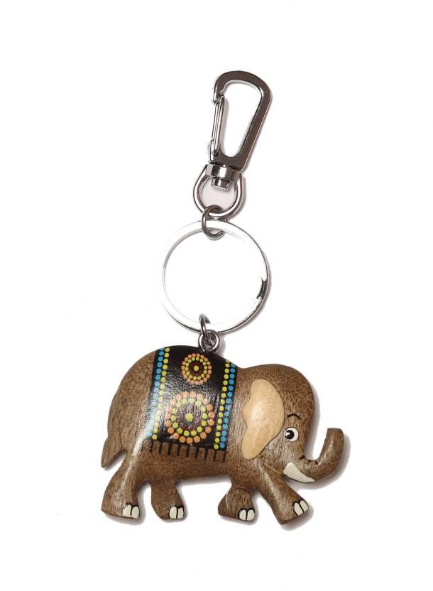 Thinksters Handcrafted Wooden Elephant KeyChain Key Chain Price in India -  Buy Thinksters Handcrafted Wooden Elephant KeyChain Key Chain online at  Flipkart. ... d1a34487b