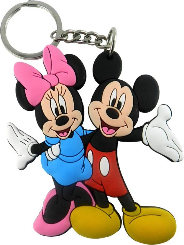 8c8a22cb6 Techpro Double sided Mickey and Minnie Mouse Couple Key Chain (Multicolor)