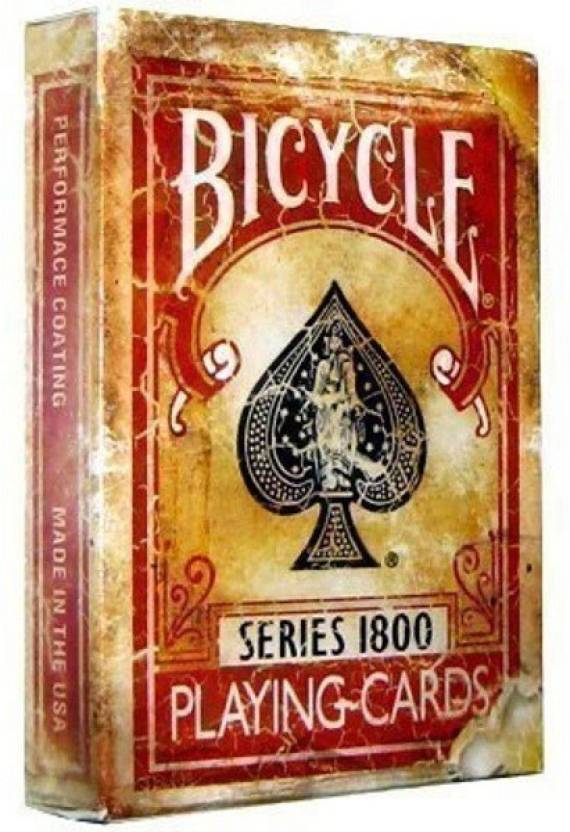 Bicycle 1800 Series Marked Vintage Playing Cards Red Deck By Ellusionist