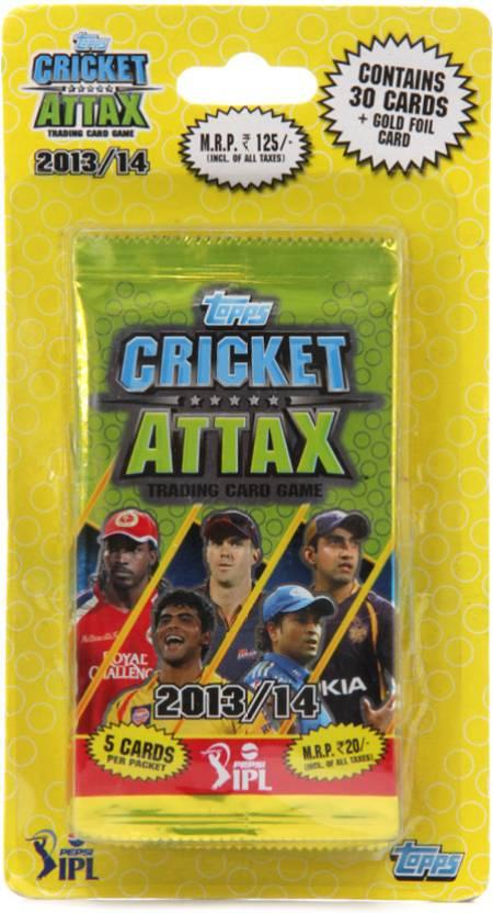 Topps IPL 2013 Cricket Attax 6 Pack Blister