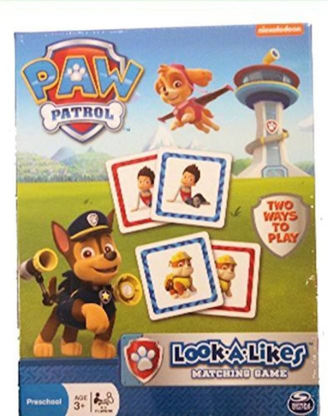 TV & Movie Character Toys Paw Patrol Look-a-Likes Matching Game