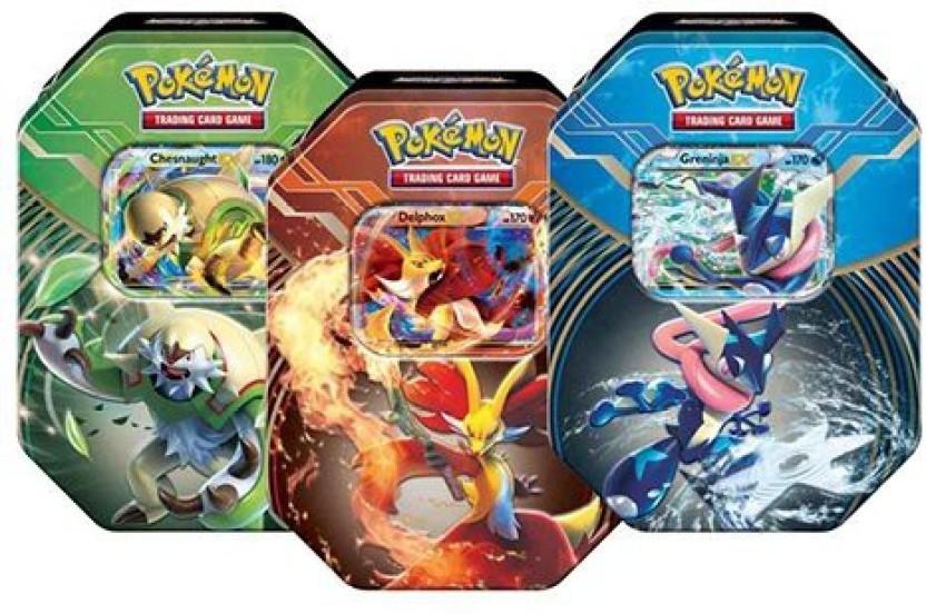 2014 Pokemon Kalos Power Tin Greninja-EX w/ 4 Booster Packs XY B&W Black & White Complete sets