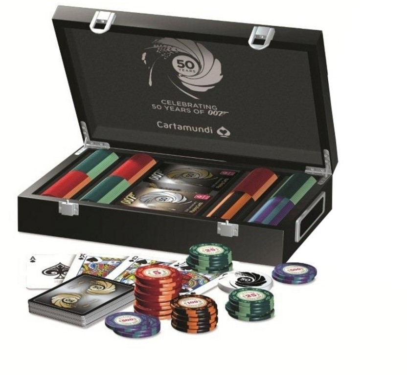 Limited edition james bond poker set grand hotel casino annecy