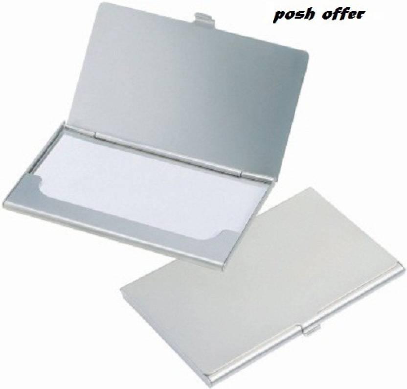 Flipkart.com | Posh Offer Silver Plated Business Case 6 Card Holder ...