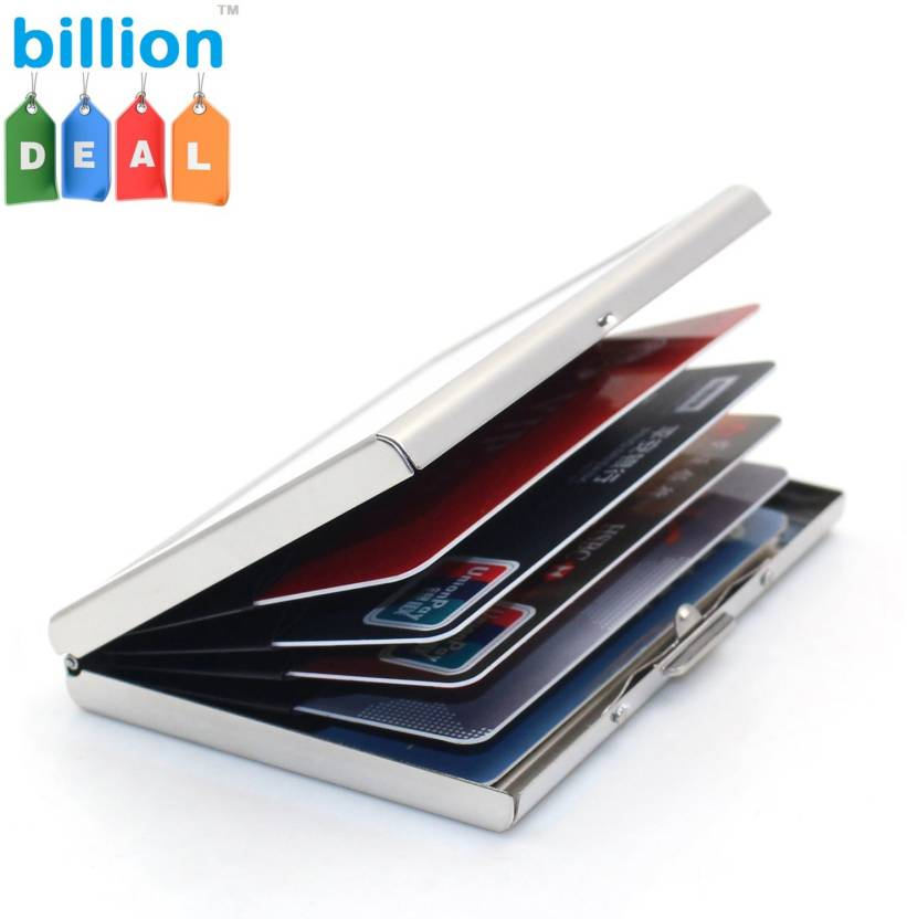 reputable site 10118 133c2 billion Deal Stylish Executive Steel Plain ATM 6 Card Holder
