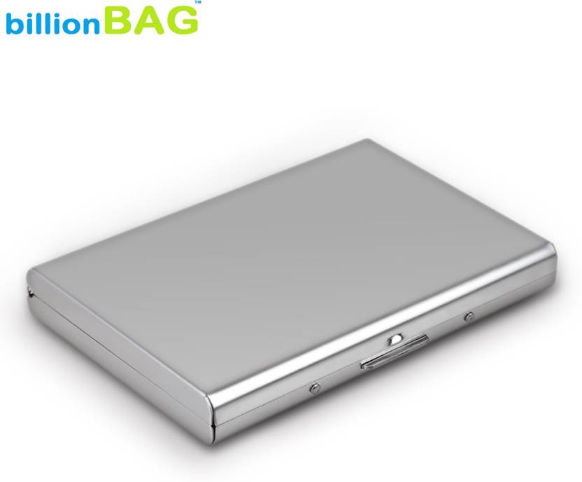 uk availability 979e9 a3891 Billionbag Steel Plain Metal Business ATM 6 Card Holder
