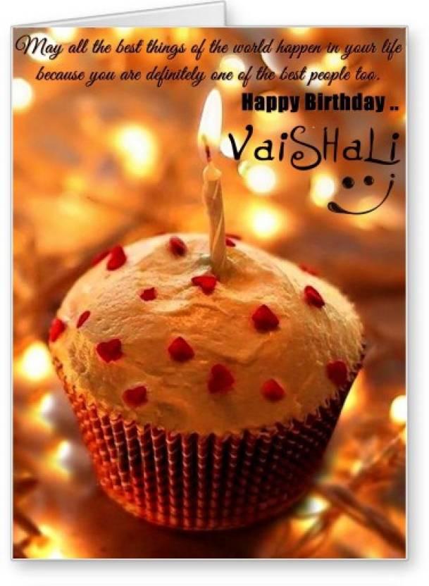 Lolprint Happy Birthday Vaishali Greeting Card Price In India Buy