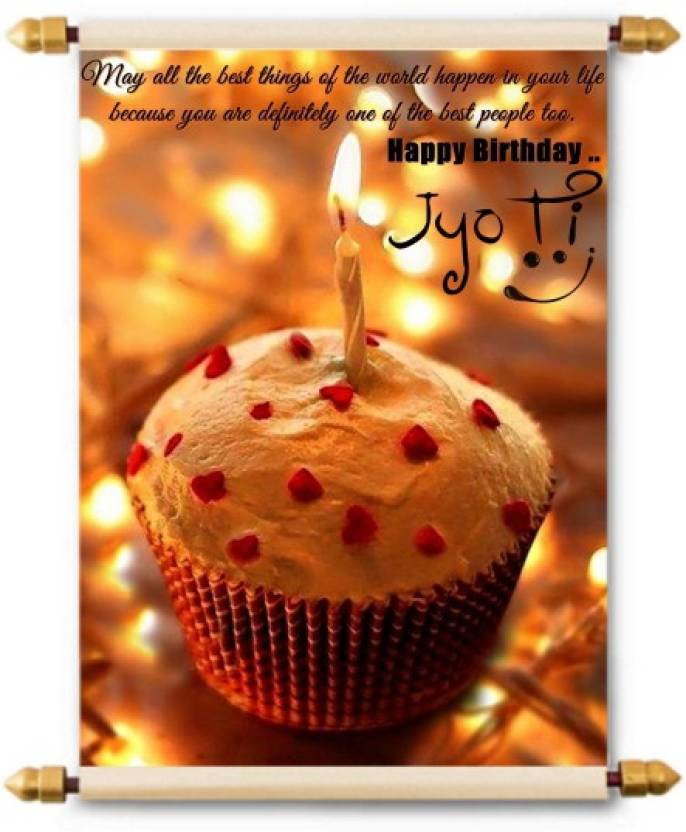 Lolprint Happy Birthday Jyoti Scroll Greeting Card Price In India