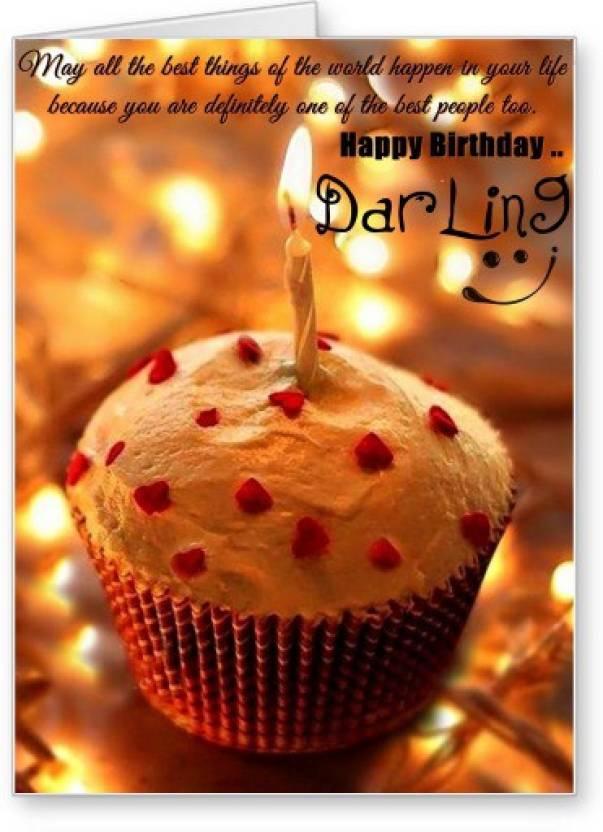 Lolprint Happy Birthday Darling Greeting Card Price In India Buy