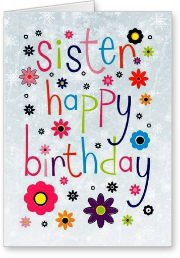 Lolprint Sister Happy Birthday Greeting Card Multicolor Pack Of 1
