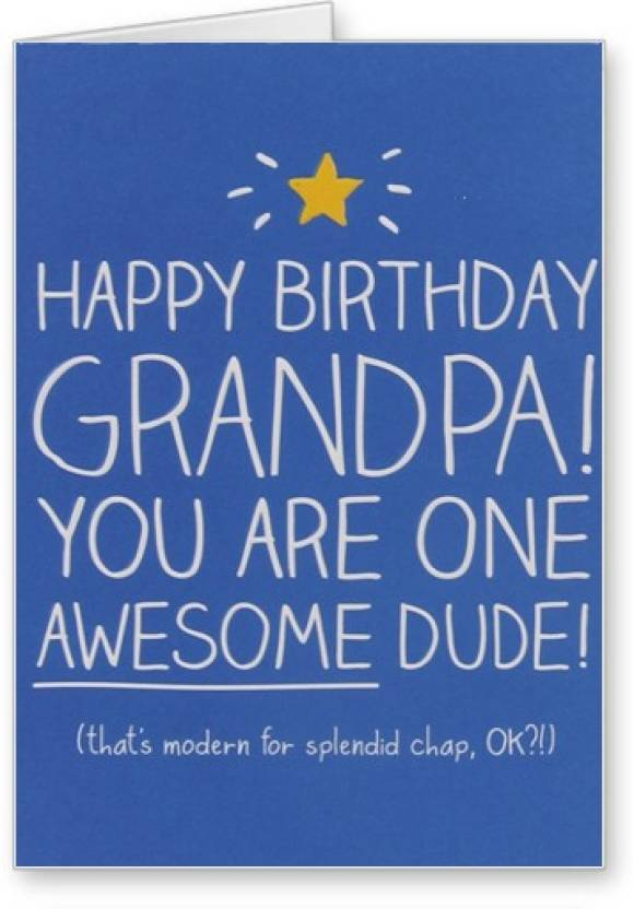 Lolprint Awesome Grandpa Happy Birthday Greeting Card Price In India