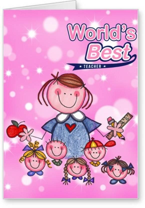 Lolprint worlds best teachers day greeting card price in india lolprint worlds best teachers day greeting card m4hsunfo