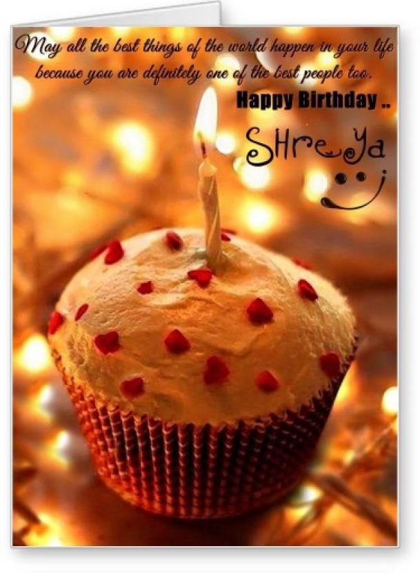 Lolprint Happy Birthday Shreya Greeting Card Price In India Buy