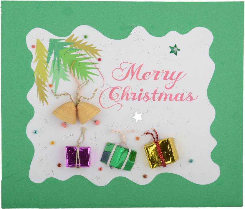 Handcrafted Emotions Christmas Greeting Card Price in India - Buy ...