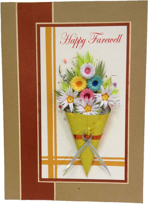 Handcrafted Emotions Farewell Greeting Card Price In India