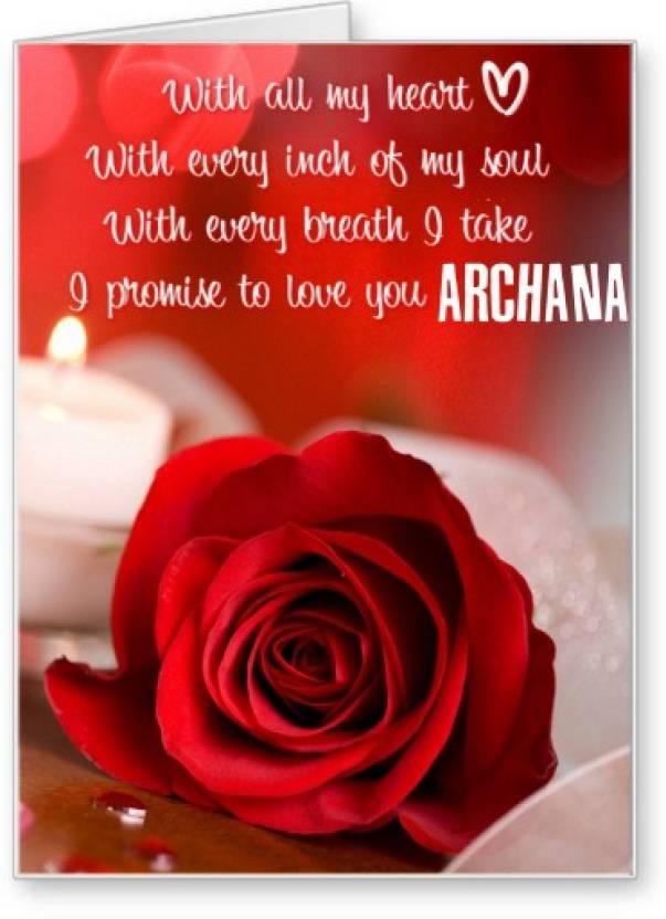 Lolprint i love you archana greeting card price in india buy lolprint i love you archana greeting card m4hsunfo