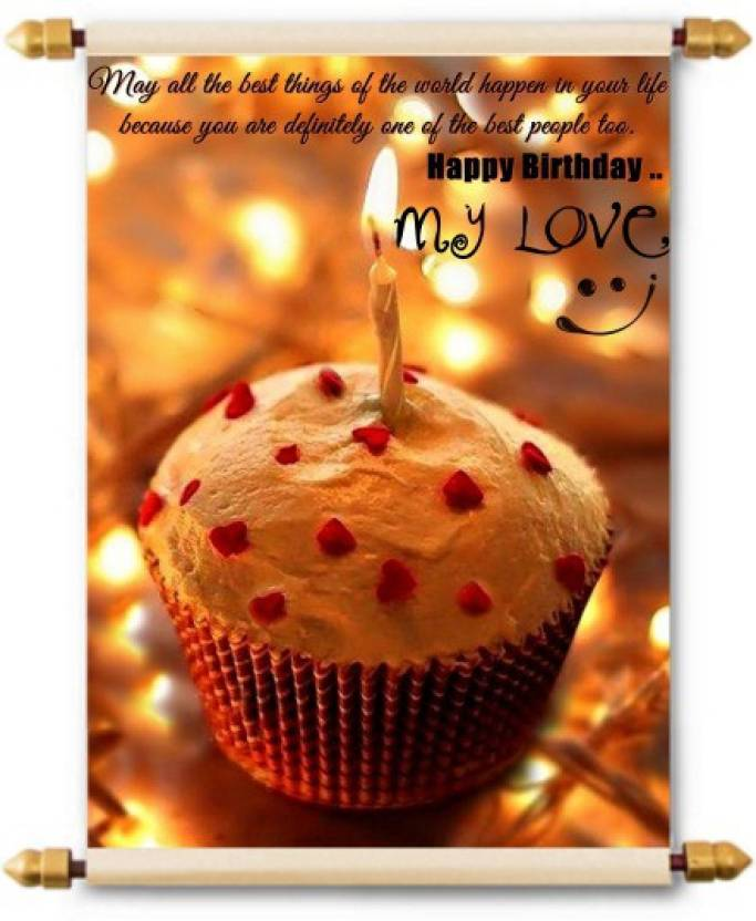 Lolprint Happy Birthday My Love Scroll Greeting Card Price In India