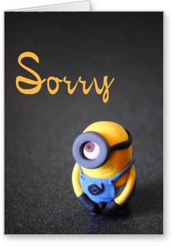 Lolprint Minion Sorry Greeting Card Price In India Buy Lolprint