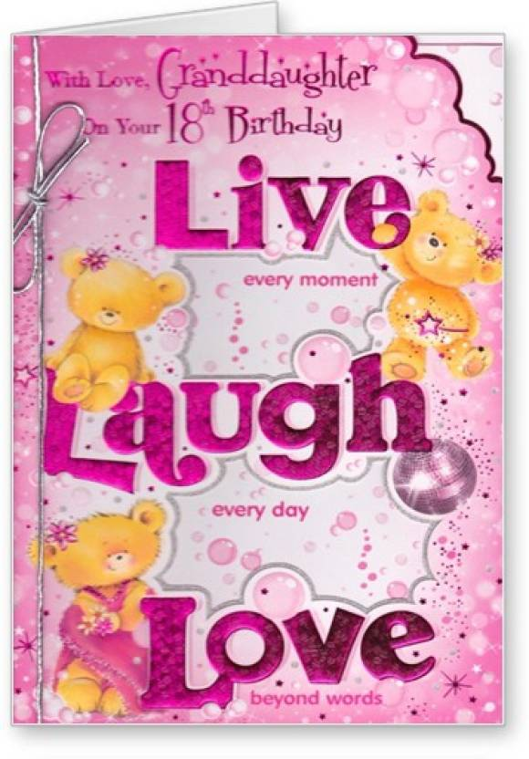Lolprint Granddaughter 18th Birthday Greeting Card Multicolor Pack Of 1