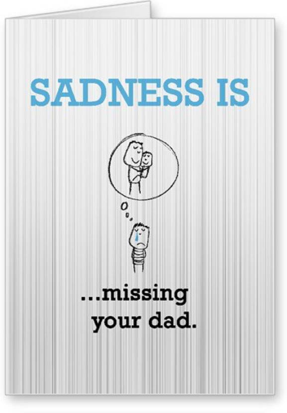 lolprint miss you dad fathers day greeting card price in india buy