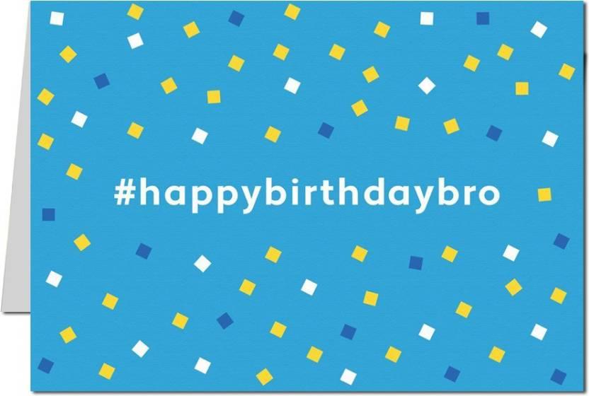 Shoptwiz Happy Birthday Brother Sparkle Greeting Card Price In