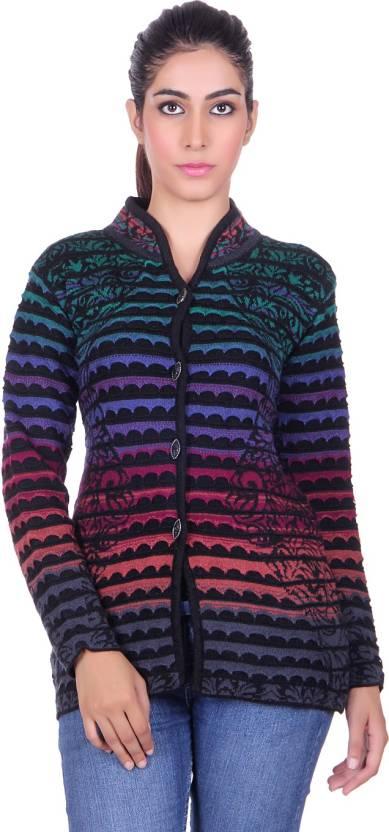 b81c336e627 H.K Oswal Women s Button Cardigan Price in India - Buy H.K Oswal Women s  Button Cardigan online at Flipkart.com