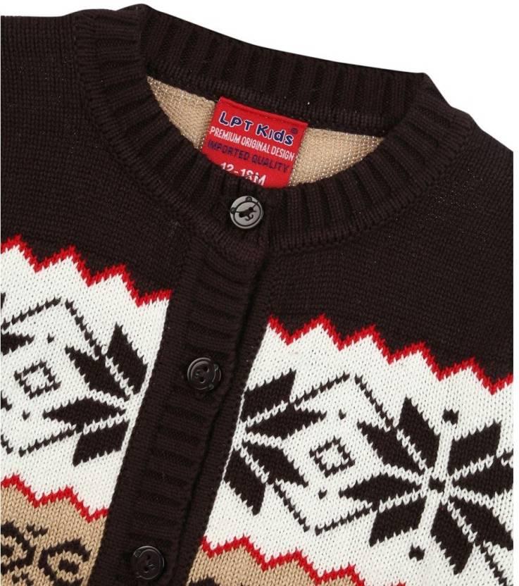 Lilliput Baby Girls Button Self Design Cardigan