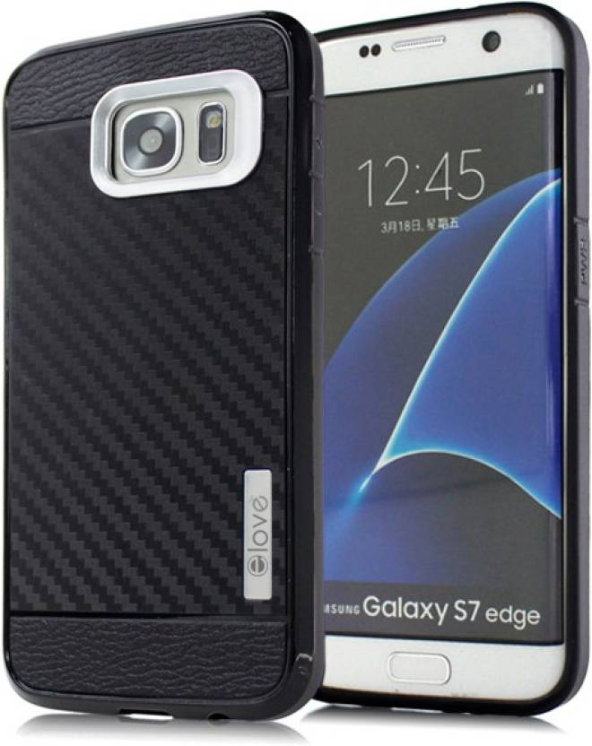 elove Back Cover for SAMSUNG Galaxy S7 Edge Silver