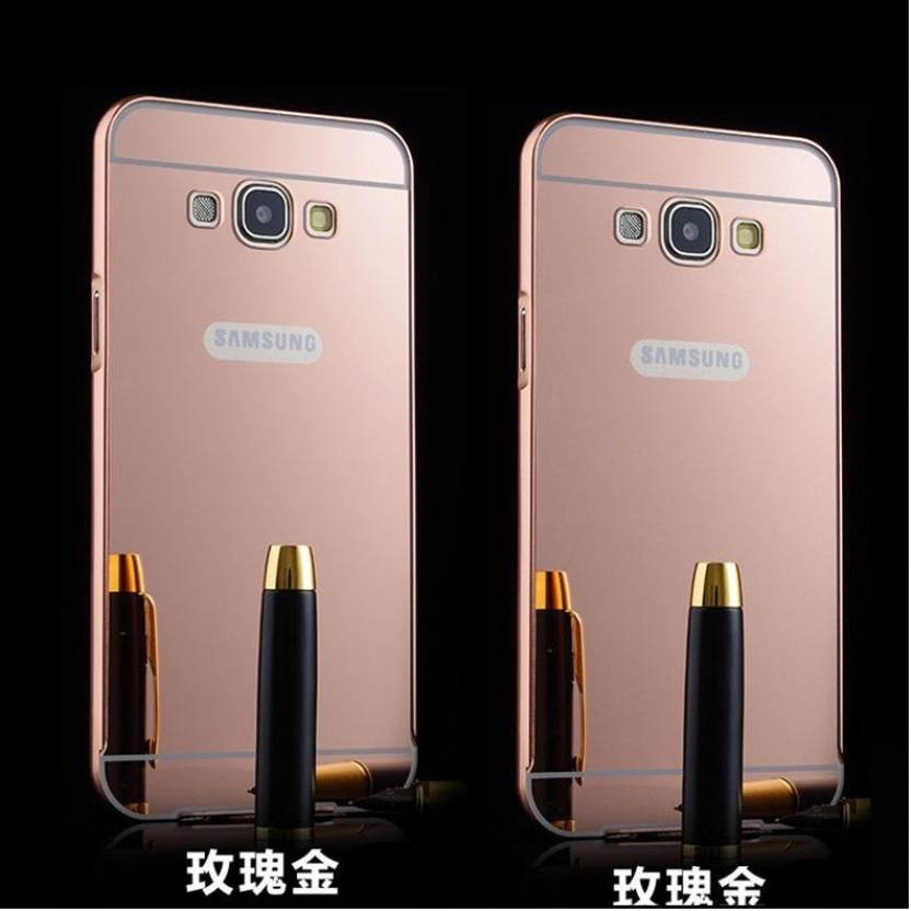 SMA Back Cover for Samsung Galaxy On7, Metal Bumper Plus Acrylic Mirror Back Cover Case For Samsung Galaxy On7 (Rose Gold, Metal, Plastic)