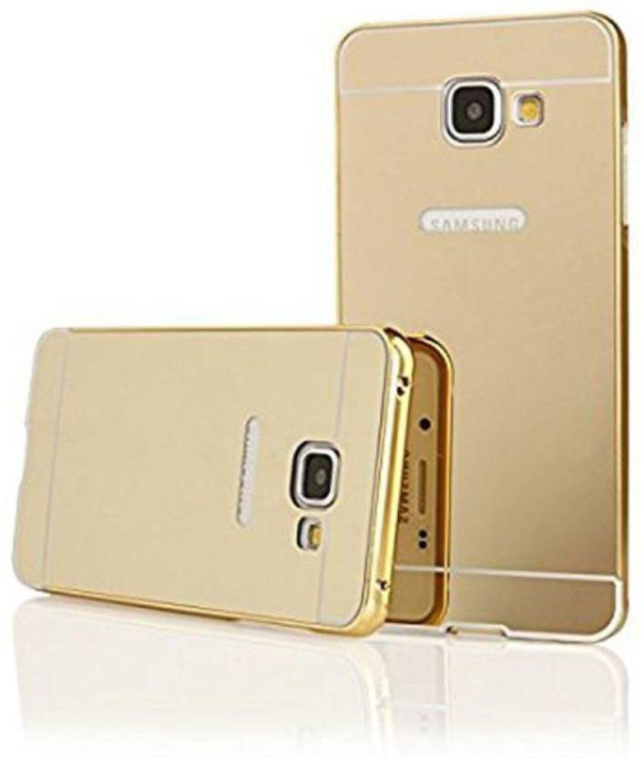Your Deal Back Cover for Samsung Galaxy J5 Prime (Golden Mirror Back, Plastic, Metal)