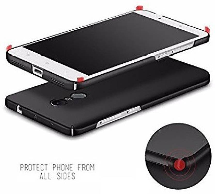 Ridhaniyaa Back Cover for Mi Redmi Note 4 Black