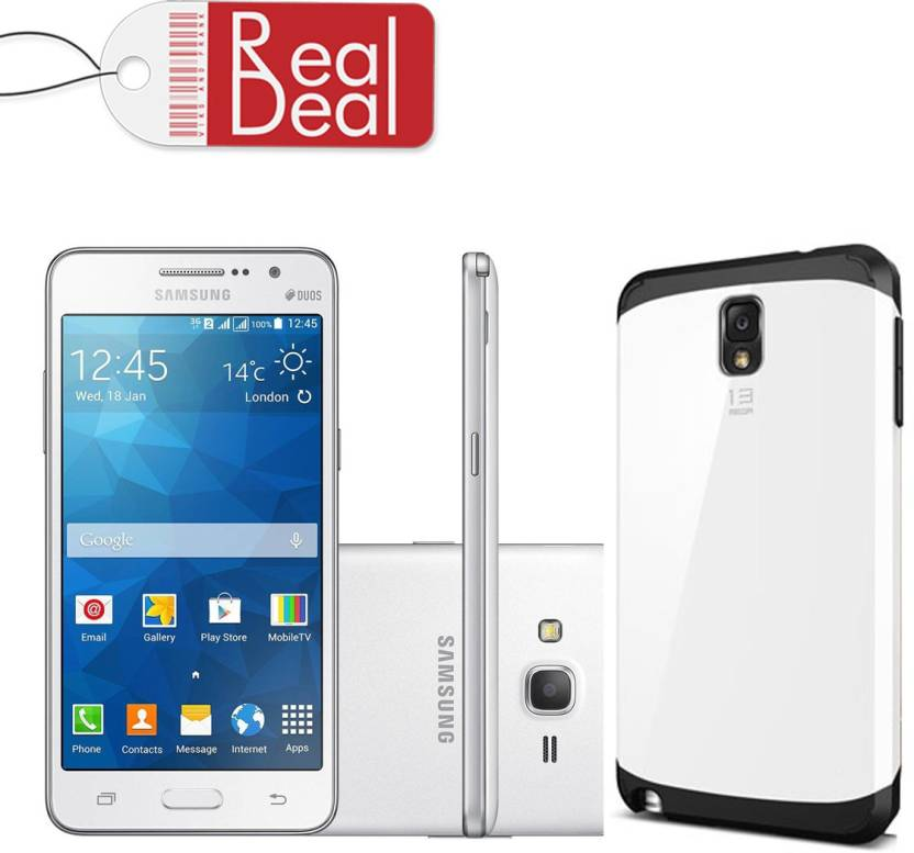 Real Deal Back Cover for samsung Grand prime (G530 white)