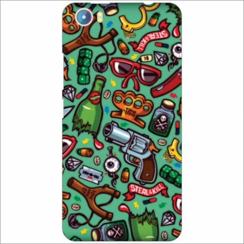 Via Flowers Llp Back Cover for Micromax Canvas Fire 4 A107 - Via
