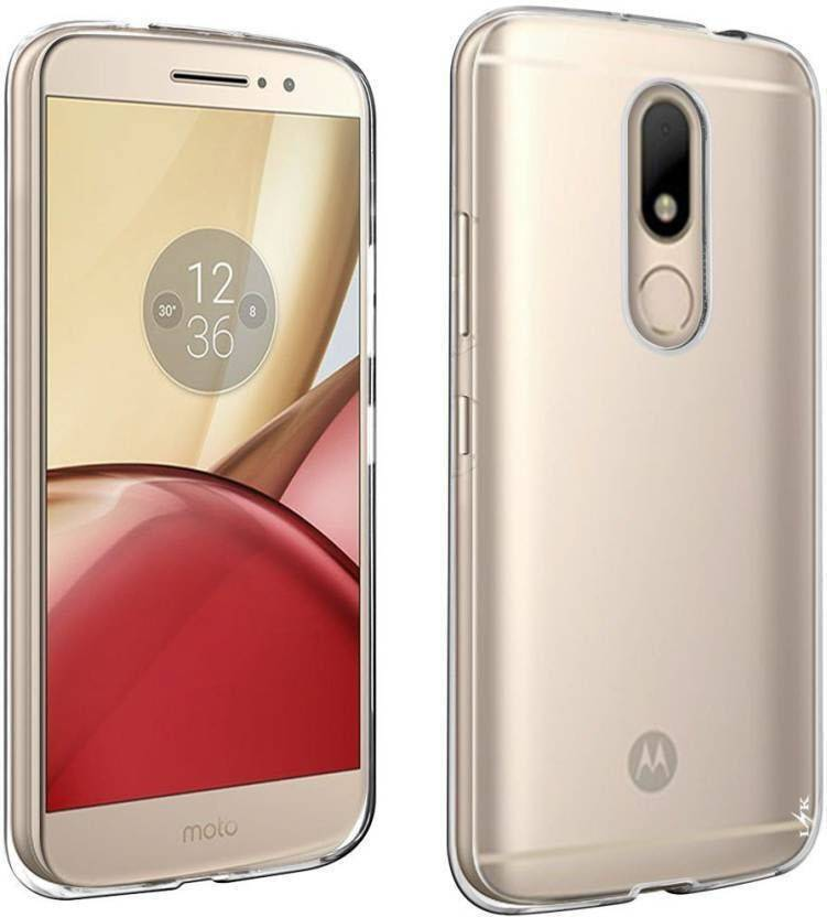 Cover On Back Cover for Moto M (Clear Transparent)