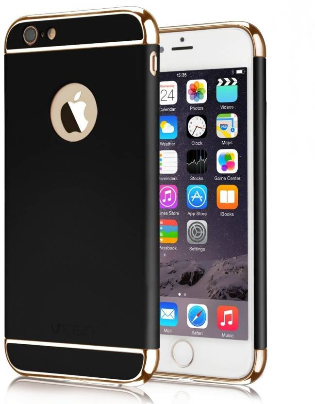 GoldKart Back Cover for Apple iPhone 6s (Black Chrome, Plastic)