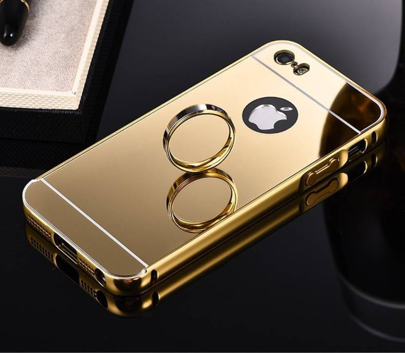 new style b4c1d f2f5f JKR Back Cover for JKR Luxury Metal Bumper Acrylic Mirror Back Cover Case  For Apple iPhone 5/5S - Gold (Pure Gold)