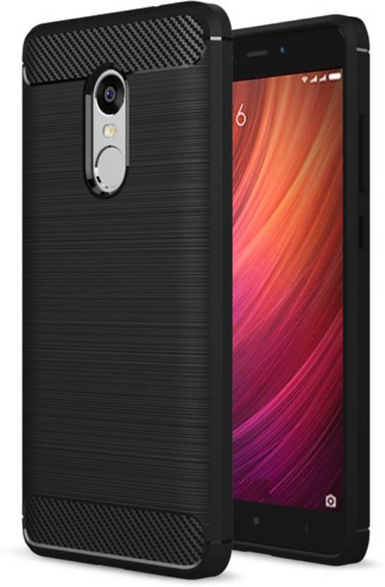 Golden Sand Back Cover for Xiaomi Redmi Note 4 (Metallic Black, Shock Proof, Polyurethane)